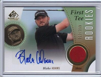 2014 SP Game Used First Tee Rookie Autograph Shirt #41 Blake Adams RC 23/399