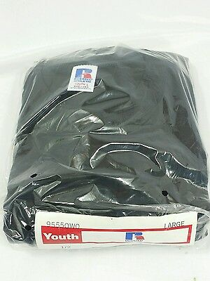 Youth Black Vintage T-shirt Large 6 Pack Russell Athletic Sealed Blank New