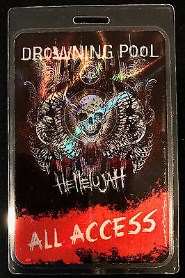 Drowning Pool - All Access Tour Laminate Backstage Pass - 2016