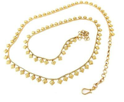 Bollywood style indian design gold plated belly chain saree waist belt P180112