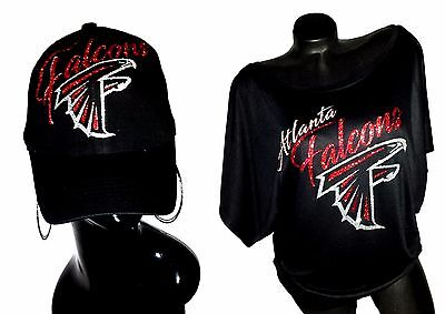 Atlanta Falcons Black Flowy Draped Slv. Dolman Tee ~ Adj. B-Cap! **Combo Deal**