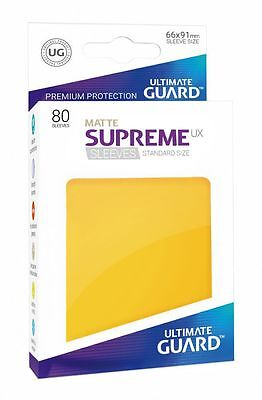 Ultimate Guard - Supreme UX Sleeves Standard Mat Yellow 80 Card Sleeves Cases