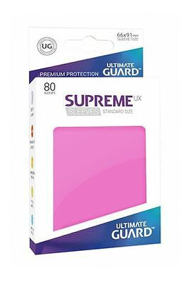 Ultimate Guard - Supreme UX Sleeves Standard Pink 80 Pieces Card Sleeves Cases