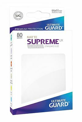 Ultimate Guard - Supreme UX Sleeves Standard Matte White 80 Pieces Card Sleeves