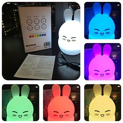 baby night light nursery lamp - portable LED soft touch safe for kids - BPA FREE