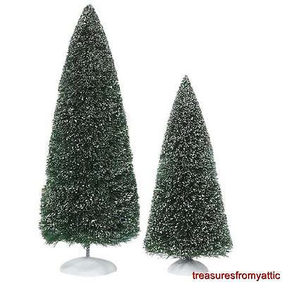 Dept 56 BAG-O-FROSTED TOPIARIES 2pc (Large) #53018 NRFP General Village Trees
