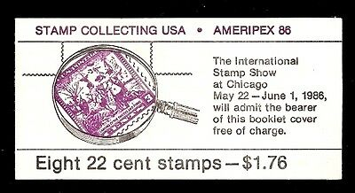 1986 - AMERIPEX 86 - # BK153 Complete Booklet of 8 Postage Stamps