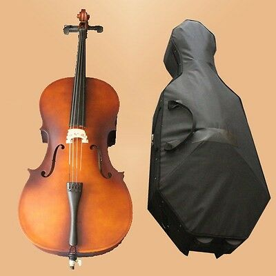 Full Size Cello 4/4 Cello Vintage Polish Student 4/4 Cello SET+Bag+Bow+CASE-342#