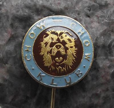 Antique Czechoslovakia Chow Chow Dog Breeders Owners Club Association Pin Badge