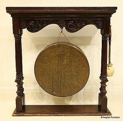 Large Victorian Bronze Gong (46cm across) with Striker FREE Nationwide Delivery