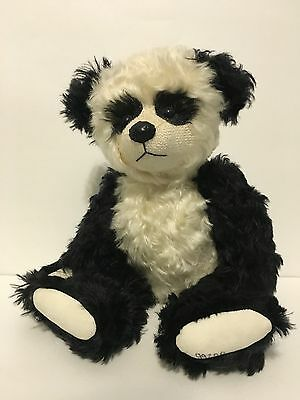 "Approx 14"" BENTLEY AND BUDDIES ""Panda""   MOHAIR BEAR By Nancy Dane"
