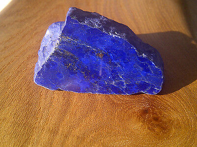 Stunning Rough Afghan Lapis Lazuli with one Polished Face - 43g - Lovely Shape