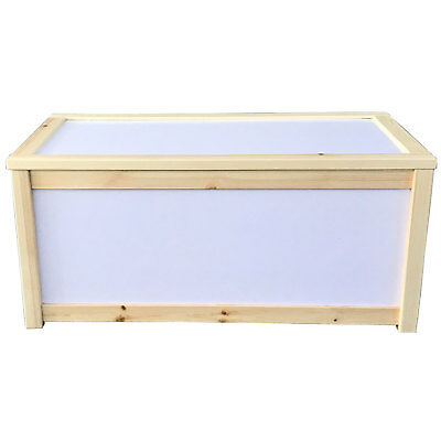 Wooden Toy Storage Box Unit Childrens Kids Toys Chest Unpainted Personalisation