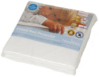 Hippychick Fitted Bed Protector Cot Bed Waterproof Mattress Cover Sheet BNIP
