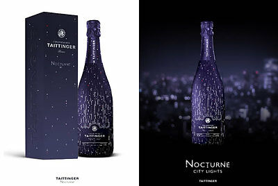 75Cl Tattinger Nocturne Champagne In Beautifully Decorated Bottle Ltd Edition