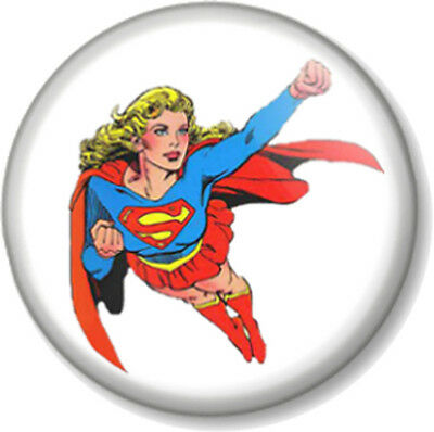 "Superwoman 1"" Pin Button Badge Feminist Supergirl Superhero DC Comics"