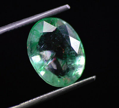 7.20 Ct Natural Oval Shape EGL Certified Translucent Green Emerald Gemstone~