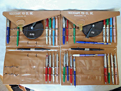 Vintage Tuckersharpe Fountain/Ballpoint Salesman Samples with Cases, as is