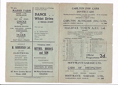 1944/45 HALIFAX v ROCHDALE (War League North)