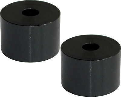 Pair of Black Aluminium Kart Seat Spacers / Washers 15mm x 30mm x 8.5mm Hole