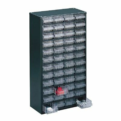 Storage Cabinet Clear 48 Drawer System Dark Grey  324196