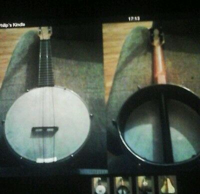 Rare Vintage Banjolele(Marvel)Openbacked With A Metal Pot And Shabby Case