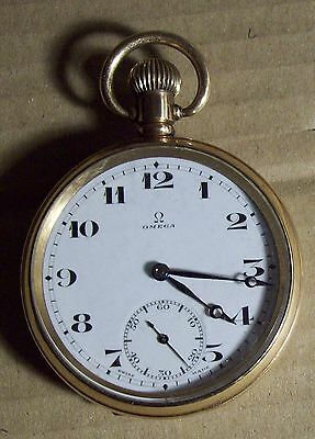 OMEGA POCKET WATCH early 20thC Swiss Made Regina 7 jewels Dennison case plated