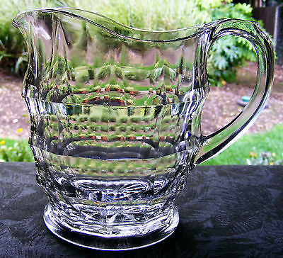 LOVELY VINTAGE 1930'S JACOBEAN GLASS JUG,RD No 791409 by DAVIDSON