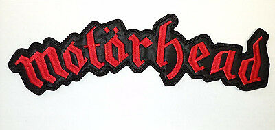 MOTORHEAD RED LOGO Embroidered PATCH