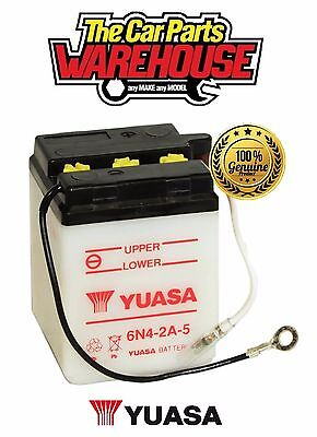 6N4-2A-5 Genuine Yuasa 6V Motorcycle ATV Quad Buggy Battery Without Acid Pack