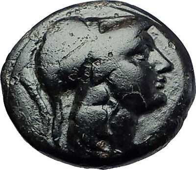 Antigonos II Gonatas 274BC Macedonia Ancient Greek Coin ATHENA PAN TROPHY i58081