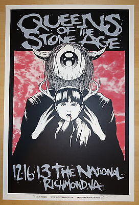 2013 Queens of the Stone Age - Richmond Silkscreen Concert Poster by Alan Forbes