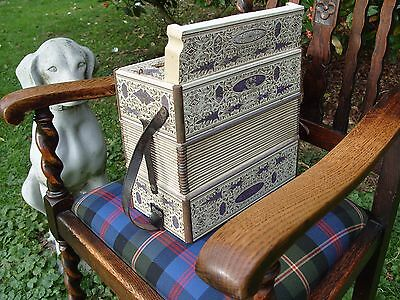 Antique German Mastertone Accordion Musical Instrument Squeeze Box
