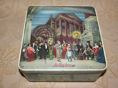 Large Vintage Collectable Huntley & Palmers  '' My Fair Lady '' Biscuits Tin