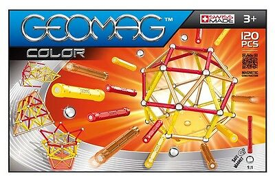 Geomag Color 120 Constuction System Magnetic Building Toy Set - SWISS MADE