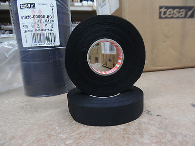 "TESA 51026 3/4"" x 27,cloth wire harness tape with acrylic based adhesive 16/pkg"