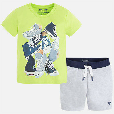 Mayoral Boys T-Shirt and Short set in Guacamole (Aged 2 to 8)