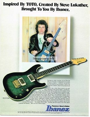 1983 Ibanez Electric Guitar Steve Lukather of Toto Magazine Ad