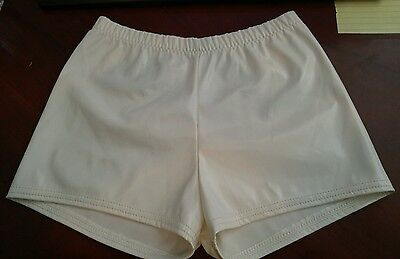 Curtain Call Costumes Kid's Dance Shorts - Size CME - White