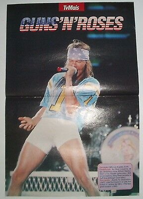 Vintage Guns N' Roses Poster and VHS Cover, early 90's Portugal Axl Rose