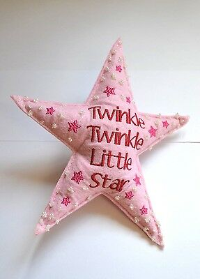 Pink Felt Star Twinkle Twinkle Little Star Clip on Decoration Baby Girls Room