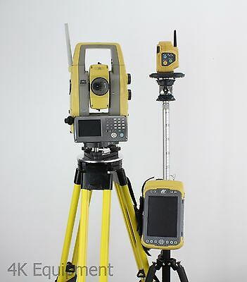 "Topcon PS-103 3"" Sec Robotic Total Station w/ Tesla Tablet Pocket-3D & RC-5"