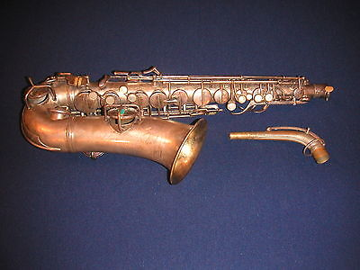 c.1930 CONN TRANNY ALTO SAXOPHONE - TRANSITIONAL CHU BERRY TO 6M NAKED LADY