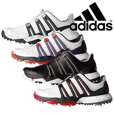 Adidas 2017 Mens Powerband Boa Boost Waterproof Golf Shoes - Wide Fitting