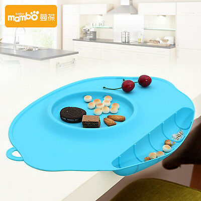 AWESOME baby silicone mat water-proof tableware bow 4colors