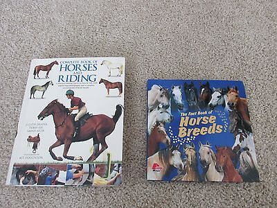 Horse Books Fact of horse breeds & complete Horses and riding 2 Books