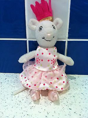 Angelina Ballerina 26 cm  Mouse Plush Rare Pink Dress- Hit Entertainment 2004
