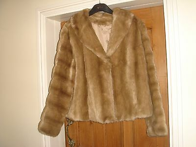 faux fur mink vintage jacket coat tyber medium very good condition