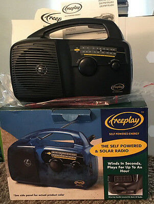 Freeplay Solar, Self Powered Crank Wind Up Portable Radio - Never Used