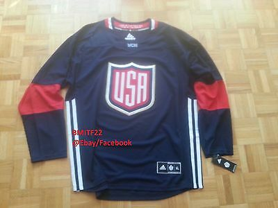 NWT USA World Cup 2016 Adidas Ice Hockey Premier Jersey Men X-Large XL